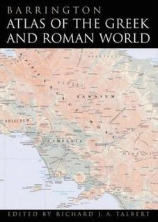 large-format English language atlas of ancient Europe, Asia, and North Africa, edited by Richard J. A. Talbert