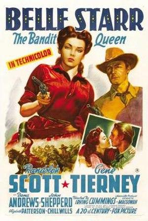 Belle Starr (film) - Image: Belle Starr Film Poster