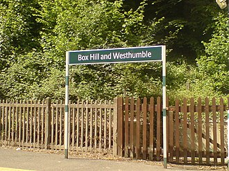 Box Hill & Westhumble railway station - Image: Box hill and westhumble station 2007
