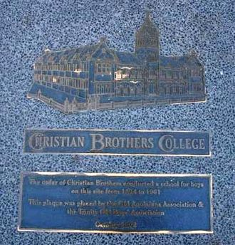 Christian Brothers' College, Perth - Plaque commemorating the site of CBC Perth