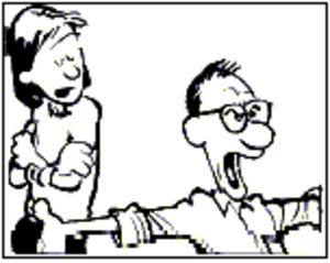 "Calvin and Hobbes - Calvin's unnamed parents, usually referred to only as ""Mom"" and ""Dad"""