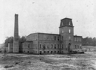 Coleman Manufacturing Company - The Coleman Manufacturing building, circa 1900.