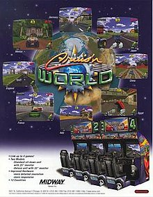 Cruis'n World arcade flyer