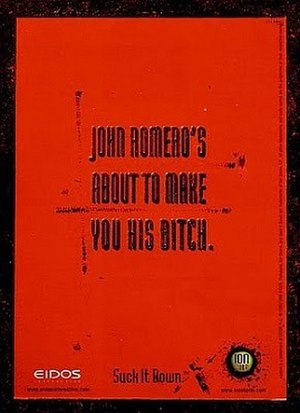 Daikatana - The controversial advertisement for Daikatana.