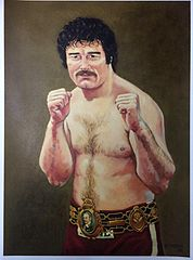 Commissioned Oil Painting Of David Bomber Pearce The Former Undefeated Welsh And British