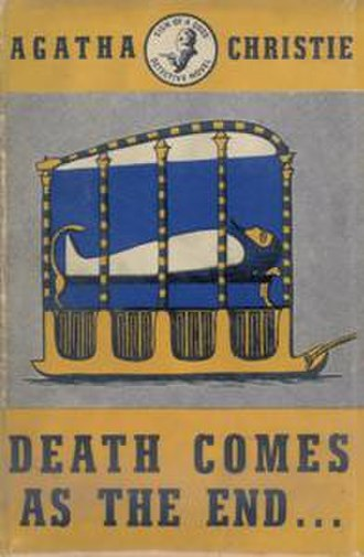 Death Comes as the End - Dustjacket illustration of the UK First Edition (Book was first published in the US)