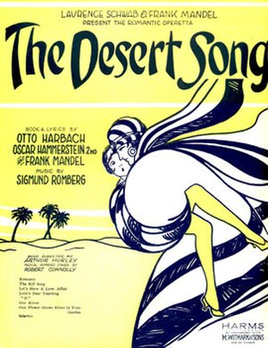 The Desert Song - Original Sheet Music (cropped)