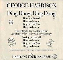 dingdong us sleevejpg - Simply Having A Wonderful Christmas Time Lyrics