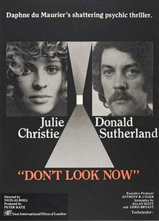 <i>Dont Look Now</i> 1973 film by Nicolas Roeg