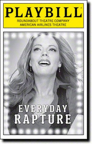 Everyday Rapture - Broadway Playbill cover
