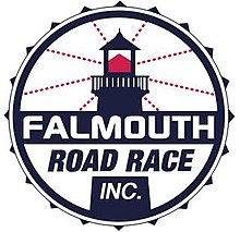The logo for the race organizer, Falmouth Road Race, Inc.