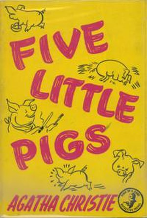 Five Little Pigs - Dustjacket illustration of the UK First Edition (Book was first published in the US)