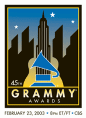 45th Annual Grammy Awards - Image: Grammylogo 03