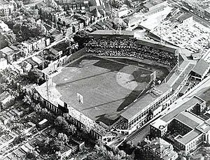 Griffith Stadium - Looking southwest in 1960