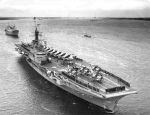 HMS Centaur (R06) - Image: HMS Centaur (Hermes class carrier)