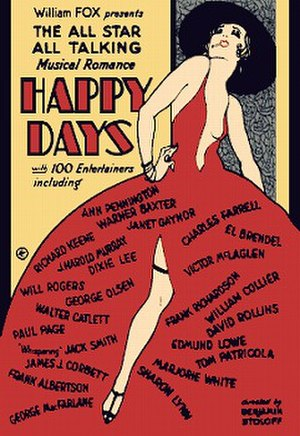 Happy Days (1929 film) - theatrical release poster