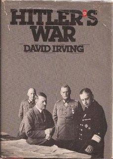 <i>Hitlers War</i> book by David irving