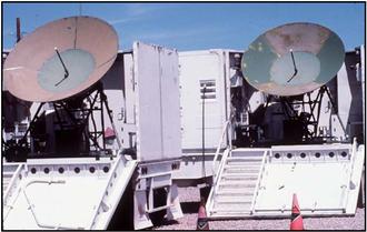 4th Space Warning Squadron - Image: Holloman mobile communication antennae