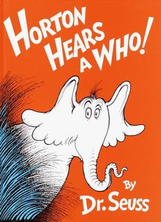 Horton Hears a Who! - Image: Horton Hears A Who Book Cover