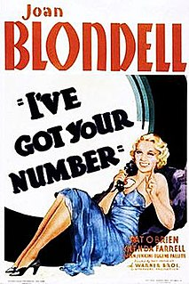 <i>Ive Got Your Number</i> (film) 1934 film by Ray Enright