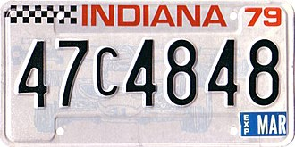 1979 Indianapolis 500 - The 1978–79 Indiana license plate featured an Indy 500-related design