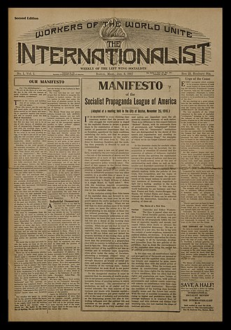 Socialist Propaganda League of America - The first publication of the Socialist Propaganda League was The Internationalist, with its debut issue dated January 6, 1917.