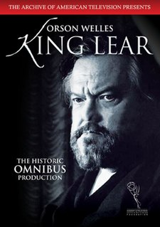 <i>King Lear</i> (1953 film) 1953 live television adaptation by Peter Brook