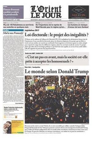 L'Orient-Le Jour - L'Orient-Le Jour, Beirut, June 5, 2009
