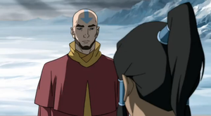 Aang - Avatar Aang's spirit with Korra in The Legend of Korra.