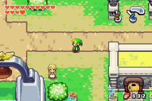 The Legend of Zelda: The Minish Cap - A screenshot of the top-down view used in The Minish Cap