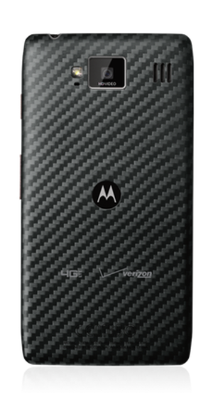 Droid Razr HD - Image: Motorola Droid Razr HD device back