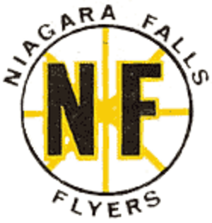 Niagara Falls Flyers - Flyers logo from 1960 to 1972.