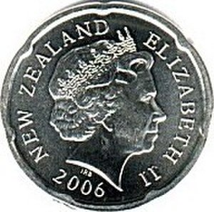 New Zealand twenty-cent coin