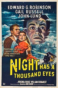 <i>Night Has a Thousand Eyes</i> 1948 film by John Farrow