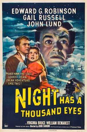 Night Has a Thousand Eyes - Theatrical release poster
