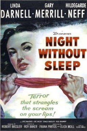 Night Without Sleep - Theatrical release poster