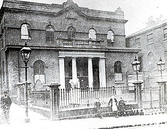 Victoria Hall, Sheffield - The Norfolk Street Wesleyan Chapel, built in 1780 and demolished in 1906 to make way for the Victoria Hall.