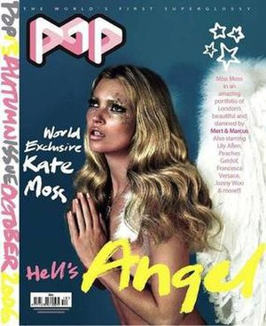 Pop (fashion magazine) - Kate Moss on one of two covers for Autumn 2006.