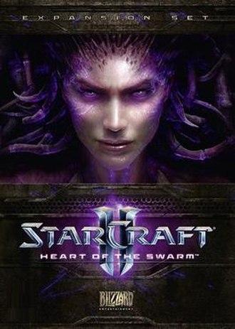 StarCraft II: Heart of the Swarm - Heart of the Swarm cover artwork, depicting protagonist Sarah Kerrigan