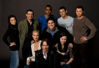 Stargate - The main cast of Universe. The series has a much larger main cast than previous Stargate shows.