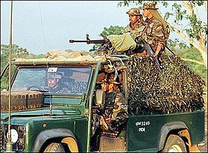 Sri Lanka Air Force Regiment - SLAF Regiment gunners on combat patrol.
