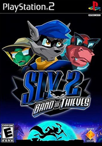 Sly 2: Band of Thieves - North American PlayStation 2 box art