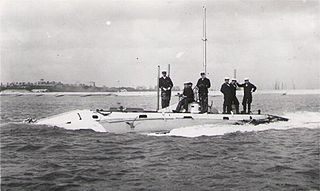 HMS <i>Holland 1</i> first submarine commissioned by the Royal Navy