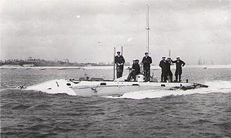 HMS Holland 1 - Holland 1 under way