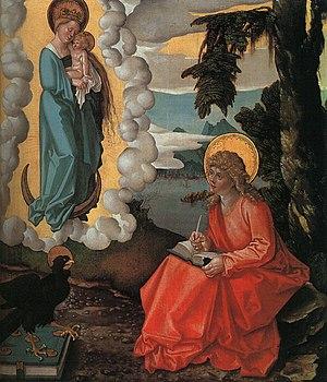 "Authorship of the Johannine works - ""Saint John on Patmos"" by Hans Baldung Grien, 1511"