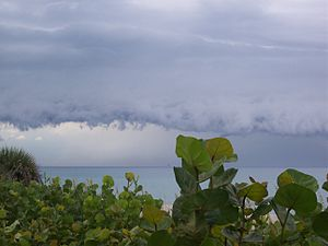 Storm front in gulf of mexico