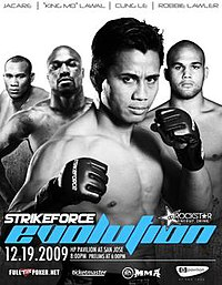 A poster or logo for Strikeforce: Evolution.