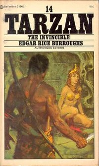 Tarzan confronting La, from the cover of a paperback edition of Tarzan the Invincible.jpg