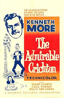 <i>The Admirable Crichton</i> (1957 film) 1957 film by Lewis Gilbert