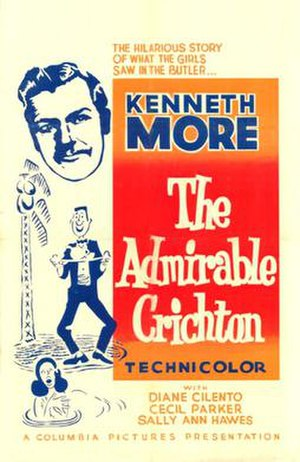 The Admirable Crichton (1957 film) - Original British cinema poster